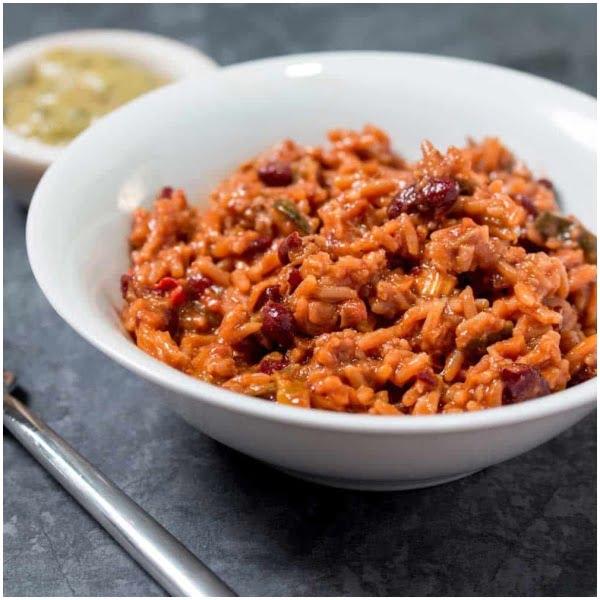 Vegetarisk Chili med ris