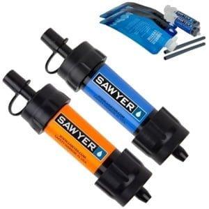 Vattenfilter Sawyer Mini 2-pack blå orange