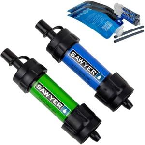 vattenfilter sawyer mini 2-pack (grön/blå)