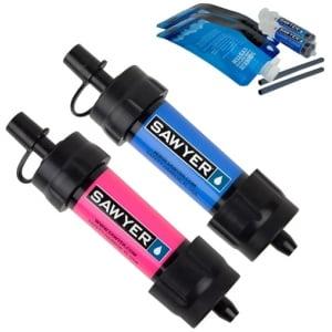 Vattenfilter Sawyer Mini 2-pack blå rosa
