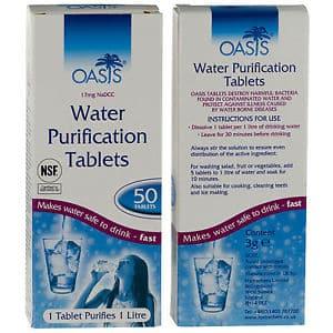 vattenreningstabletter oasis