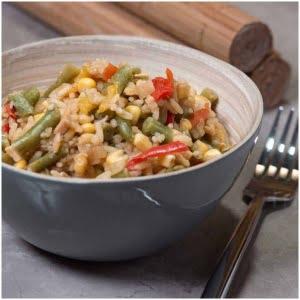 grönsaker med stekt ris