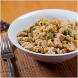kyckling med stekt ris