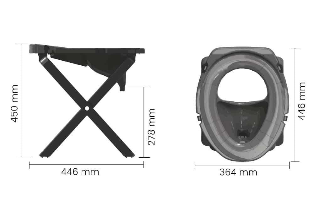Kanon Campingtoalett Rescue Camping 25 (portabel och hopfällbar) - Criseq XM-81