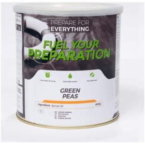 Frystorkade gröna ärtor - 30 portioner