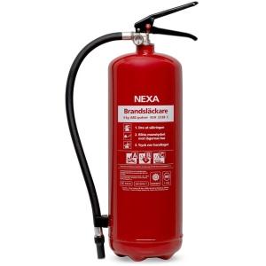 Brandsläckare Nexa röd 6kg (pulver)