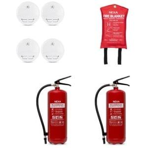 Brandskyddspaket bostad (röd) - stor